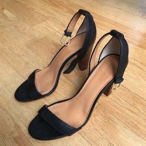 JCrew Black Ankle strap Heel Sandals